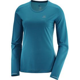 Salomon Agile LS Tee Women Deep Lagoon